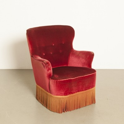 Theo Ruth Artifort lady's armchair in red
