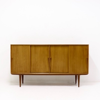Teak Highboard by Gunni Omann for Omann Jun 1960s