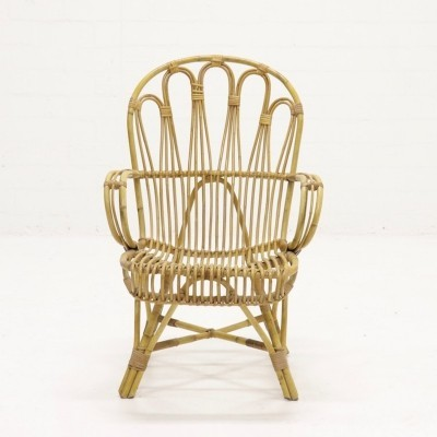 Mid-Century Rohé Rattan Lounge Chair, 1960's