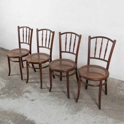 Set of 4 Fischel dining chairs, 1920s