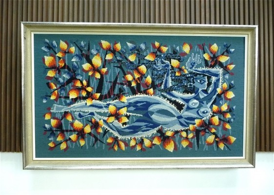 'Undine' French Handmade Wall Tapestry, 1960s