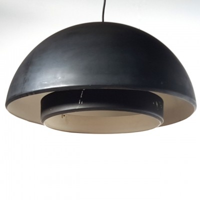 Minimalist metal dutch design pendant lamp by Dijkstra Lampen, 1960s