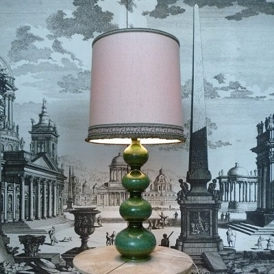 Large German Ceramic Table Lamp by Kaiser Leuchten, 1960s
