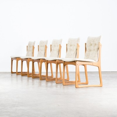 Set of 5 Dining room chairs for Vamdrup Stolefabrik Denmark