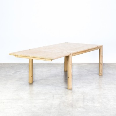 Rainer Daumiller solid pine wood extendable dining table for Hirtshals Savvaerk, 1970s