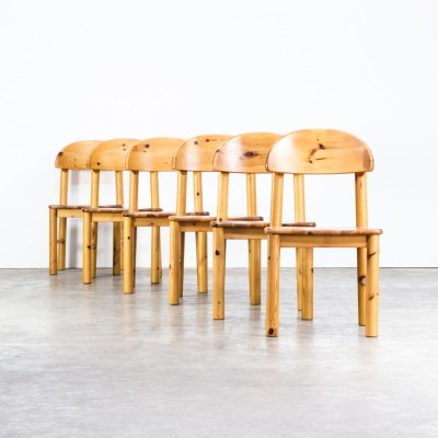 Set of 6 Rainer Daumiller pine wood dining chairs for Hirtshals Savvaerk, 1960s