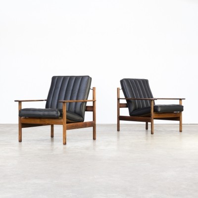 Pair of lounge chairs by Sven Ivar Dysthe for Dokka Möbler, 1960s
