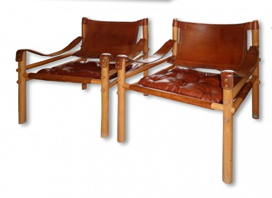 Pair of Scirocco lounge chairs by Arne Norell for Norell Möbel AB, 1970s