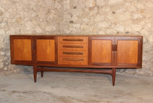 Vintage teak & afromosia 'Fresco range' sideboard by VB Wilkins for G-Plan