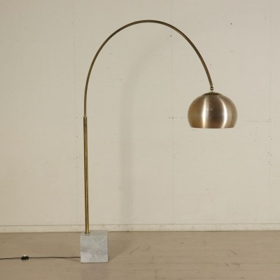 Floor Lamp with Marble Base, 1960s-1970s