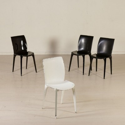 Set of Four 'Lambda' Chairs by Marco Zanuso, 1960s