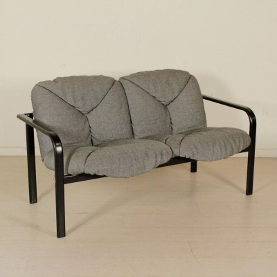 Small Sofa in Metal & Fabric by ICF Italy, 1990s
