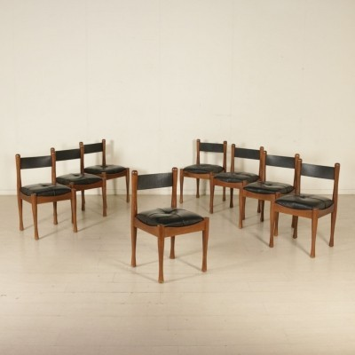 Eight Chairs by Silvio Coppola for Bernini, 1970s