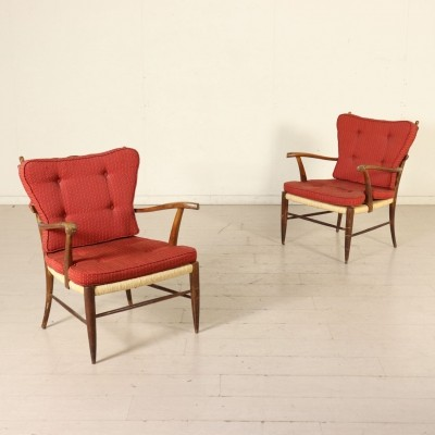 Pair of Armchairs by Paolo Buffa, Italy 1950s