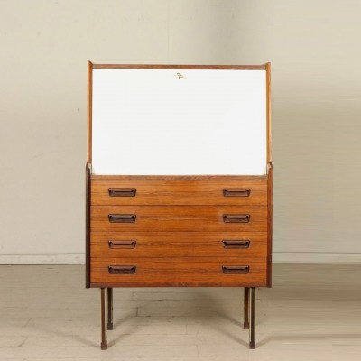 Drop-Leaf Cabinet in Rosewood & Formica, Italy 1960s