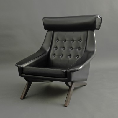 Danish lounge Ox chair by Illum Wikkelsø for Søren Willadsen Møbelfabrik, 1960s