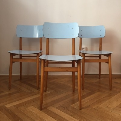 Set of 3 Ton dinner chairs, 1960s