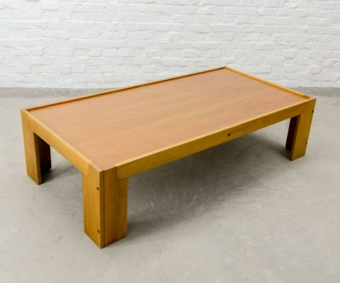 Italian Solid Wood Coffee Table by Tobia Scarpa for Cassina, 1970s