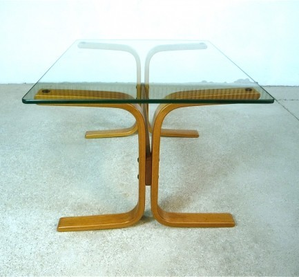 Teak & Glass 'Siesta' Coffee Table by Ingmar Relling for Westnofa, 1960s