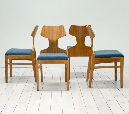 Meredew Beech, Oak & Plywood Dining Chairs