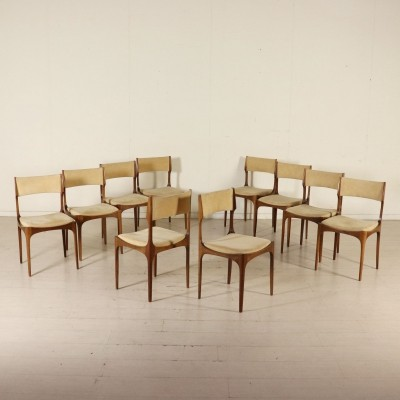 10 Chairs by Giuseppe Gibelli for Sormani, 1960s