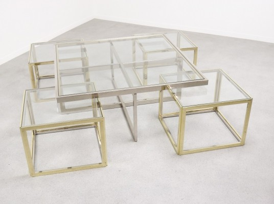 Segment coffee table by Maison Charles, 1970s