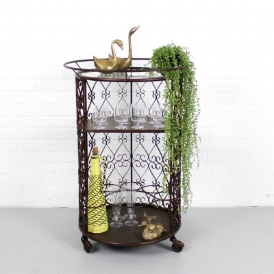 Rare vintage bar cart by Chaty Vallauris, 1960s