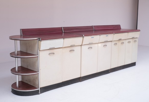 Kitchen Cabinet Set by Raymond Loewy, 1950s