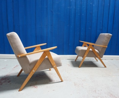 Pair of Mid Century Lounge Chairs, 1960s