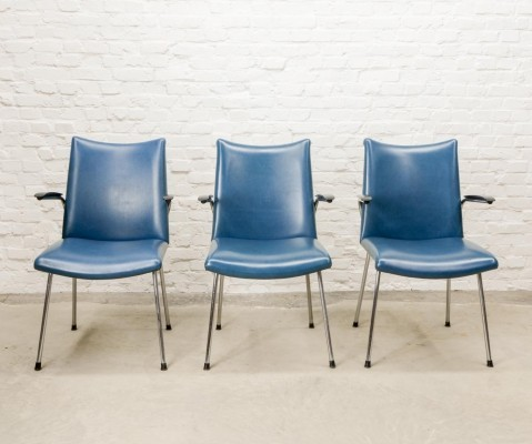 Dutch Design Set of Three Arm Chairs by Gebroeders De Wit, The Netherlands 1960s