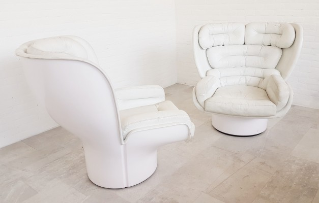 Original Elda chairs by Joe Colombo for Comfort Italy, 1960s