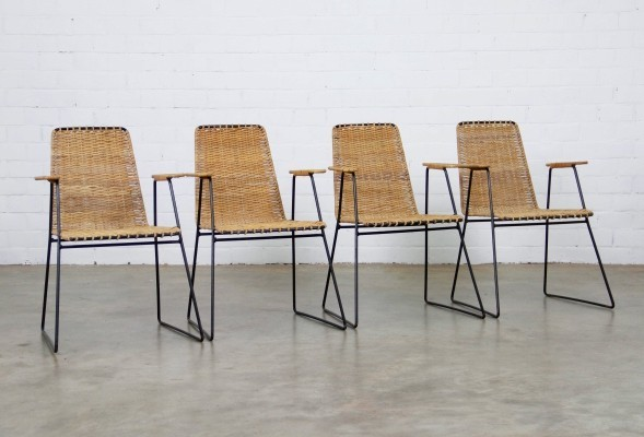 Set of 4 vintage dinner chairs, 1950s