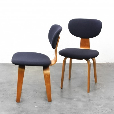 2 x SB03 dining chair by Cees Braakman for Pastoe, 1950s