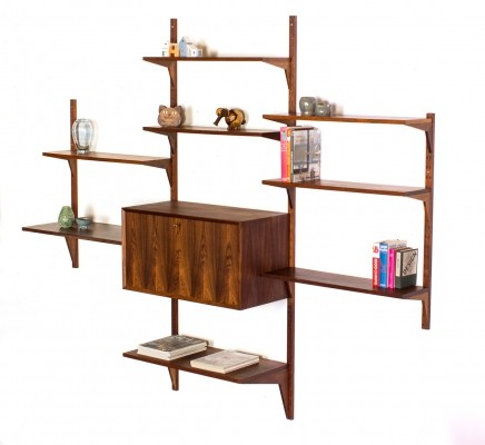 Vintage Danish rosewood wall system by Poul Cadovius