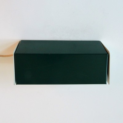 Dark green wall light by Niek Hiemstra for Evolux, The Netherlands 1950's