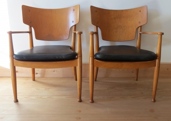 Pair of Danish chairs by Peter Hvidt & Orla Molgaard for Portex, 1940s