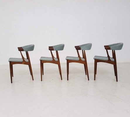 Set of 4 BA 113 dining chairs by Johannes Andersen for Andersens Møbelfabrik AS, 1960s