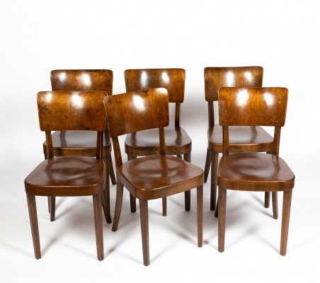Set of 6 Model 2 dining chairs by Werner Max Moser for Horgen Glarus, 1960s