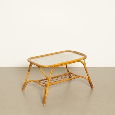 Rattan coffee table by Rohé Noordwolde