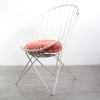Wire lounge chair, 1960s
