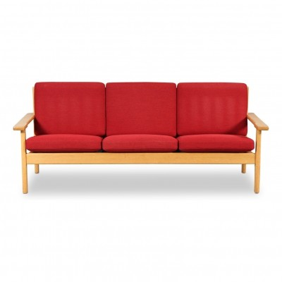 Vintage Hans J. Wegner 3-seating oak laquer sofa