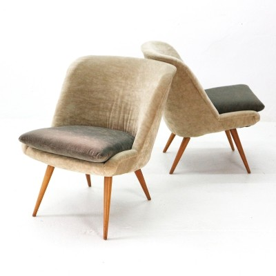 Pair of Cocktail Chairs, 1950s