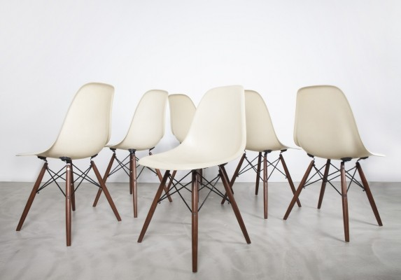 Set of 6 DSW dinner chairs by Charles & Ray Eames for Herman Miller, 1950s