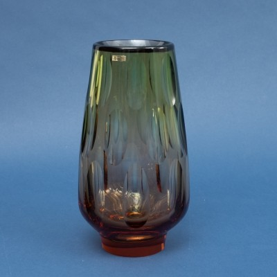 1960s crystal glass vase by Erich Jachmann for WMF