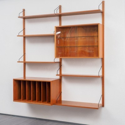 Teak 'Royal System' shelving system with cabinet by P. Cadovius for Cado, 1960s