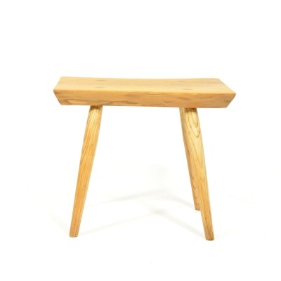 Massive stool from ash wood