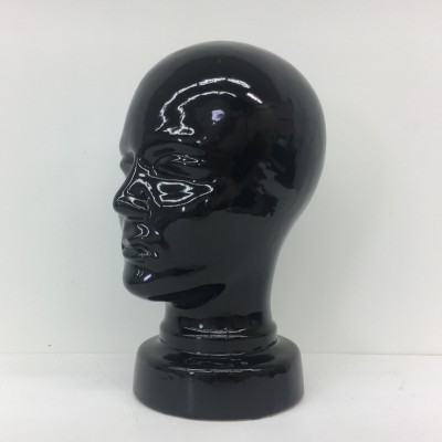 West German black ceramic head, 1970's
