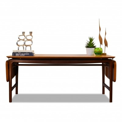 Vintage Danish design Peter Hvidt & Orla Mølgaard massive teak table