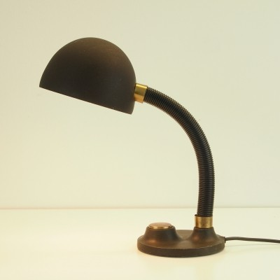 Vintage mid century cast iron/brass table lamp by Hillebrand