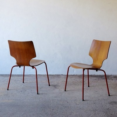 Pair Of Midcentury Danish Plywood Chairs